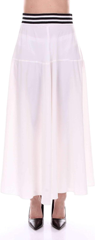 FEDERICA TOSI Women's FTE18GO027WHITE White Polyamide Skirt