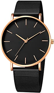 Fashion Mens Ultra Thin Wrist Watches Waterproof Dress Stainless Steel Band Military Sport Date Analog Quartz Watch