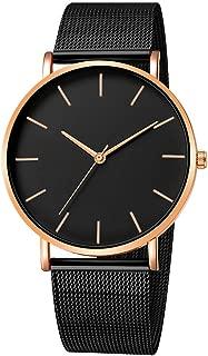 QUNANEN Mens Wristwatch Bracelet Watch Fashion Stainless Steel Military Sport Date Analog Quartz Wrist Watch (#Wrist Watch G)