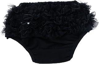 Perfeclan Girls Shorts DOcasión Celebration Decorate Wedding - Black, XL for 12-24Months