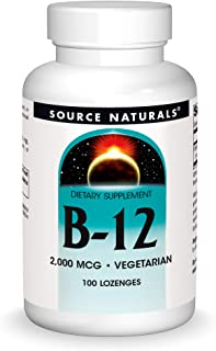Source Naturals Vitamin B-12, 2000 mcg Supports Energy Production - 100 Lozenges