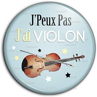 Mainly Metal Broche en m/étal /émaill/é dorchestre Musical pour Violon Marron