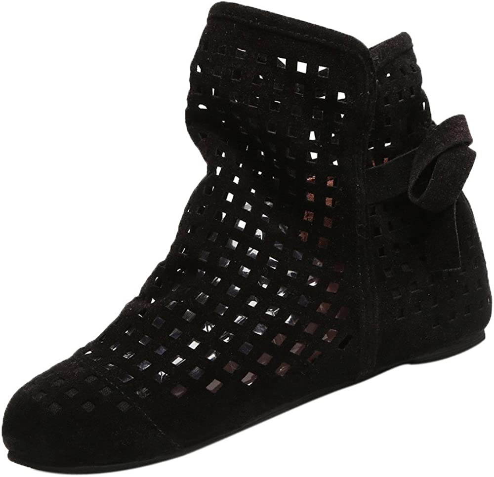 XTBFOOJ Ankle Boots for Women Platform Hidden Wedge Booties Fash