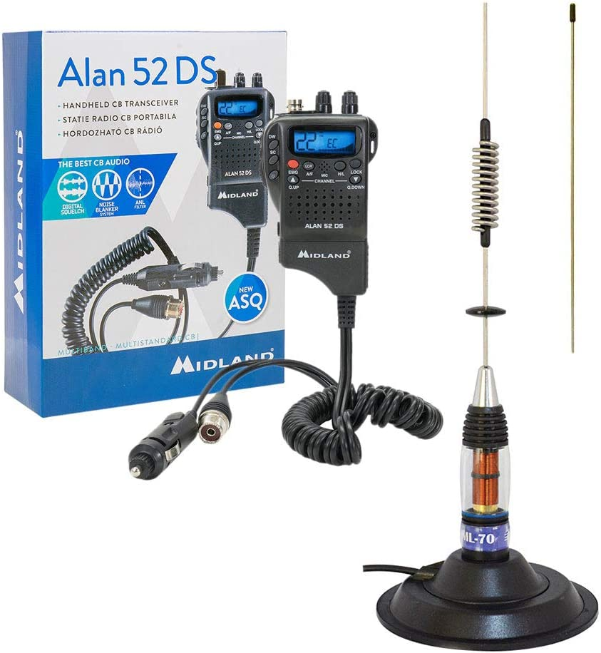 Midland Pack73 - Kit radio CB y antena con base magnética