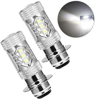 80W Super White LED Headlights Bulbs Upgrade for Yamaha Banshee Raptor Rhino YFZ350 YFZ450 YFM250 YFM350 YFM450 YFM660 YFM700 Raptor Blaster 200 Banshee 350