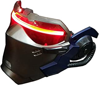 OW Soldier 76 AIR Vents Luminous Mask Jack Morrison Game Cosplay Prop Replica