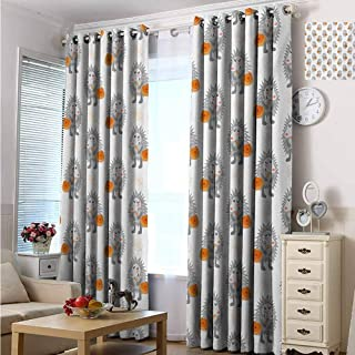 Printed Thermal Insulated Bedroom Grommet Blackout Curtains Drapes 108