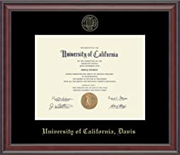 UC Davis Gold Embossed Diploma Frame - Features Solid Hardwood