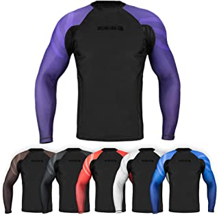 Essentials Long Sleeve Compression MMA BJJ Wrestling Cross Training Rash Guard