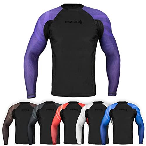 Sanabul Essentials Long Sleeve Compression MMA BJJ Wrestling Cross Training  Rash Guard 502c84167f4d