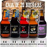 CEREX - Pack 20 cervezas artesanales Cerex 33 cl. (4 Pilsen, 4 Ibérica de Bellota, 4 Castaña, 4 Cereza, 4 Frambuesa) - Mejor Cerveza Artesanal de España Premios'World Beer Awards 2017'