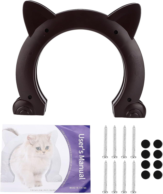 Cat Now on sale Door Spasm price Built in Interior Plastic Pass Thro Cat-Head Shaped