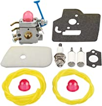 Panari C1Q-W40A Carburetor + Air Filter Tune Up Kit for Husqvarna 545081848 128LD 128L 128C 128CD 128LDX 128R 128RJ 128DJX String Trimmer/Brush Cutter