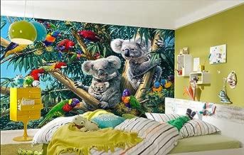 HandPiao Papel Tapiz Fotográfico 3D Papel De Pared Murales 3D Bosque Loro Koala Papeles Pintados Fotomurales para Dormitorio Sala De Estar Oficina (W) 500X(H) 280Cm