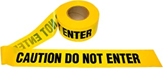 1 roll of Barricade Tape. Yellow and Black Caution DO NOT Enter Tape 3 inch Wide, 1000 Feet. Printed Barricade Tape 3 mil, Barrier Safety Tape.