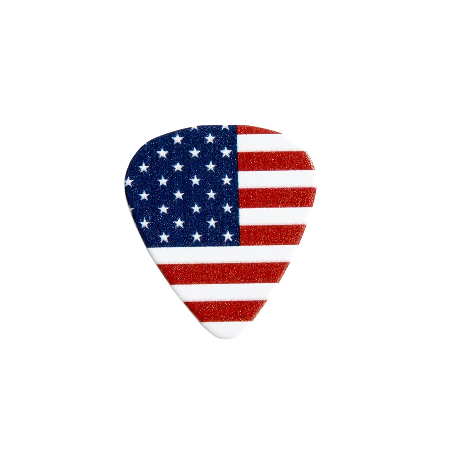 D'Andrea Cool Plecs Guitar Picks 12 Pack (Flag, Medium)