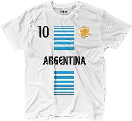 a73a63346aa0d KiarenzaFD T-Shirt Hommes National Sportif Argentina Argentine 10 Sole  Football Sport 1 Streetwear Shirts