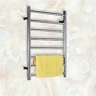 XSGDMN De Toallas de Acero Inoxidable, Calentador eléctrico de Toallas y tendedero, montado en la Pared toallero radiador eléctricos calefactables Secado Bastidores, para Baño,HardWire