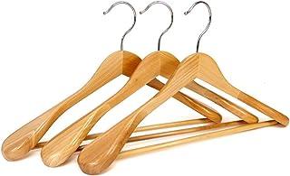 logei® 5 pieza de madera perchas perchas de madera Perchas de guardarropa con antideslizante barra de pantalones almohadi...