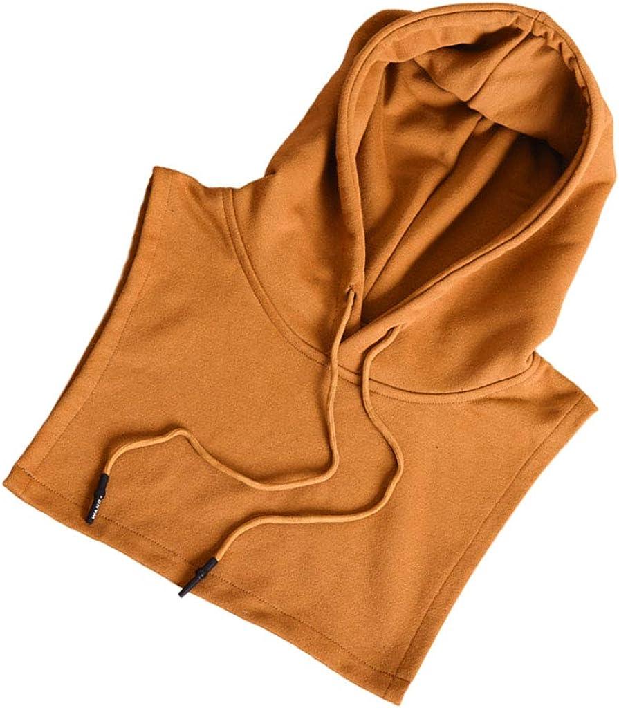 YOUSIKE Detachable Blouse, Women Men Detachable Dickey False Fake Collar Solid Color Drawstring Hoodie Half Shirt Blouse Sweater Decorative Clothing Vest Crop Top