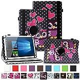 NAUC Tablet Hülle für Wortmann Terra PAD 1005 Tasche Schutzhülle Cover Case 360 Drehbar Kunst-Leder, Farben:Motiv 5