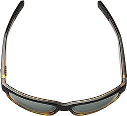 Matte Black/Shiny Tortoise Frame/Gray/Silver Mirror 580G