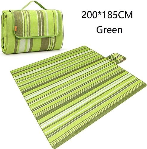 ZTMN Couverture extérieure Tapis de Camping résistant à l'humidité Tapis de Couchage Pliable pour Dormir sur la Plage Camping (Couleur  Vert)