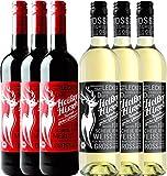 6er Mixpaket - Bio-Glühwein rot & weiß - Heißer Hirsch   veganer Glühwein   Glühwein aus Deutschland in Bio-Qualität   6 x 0,75 Liter