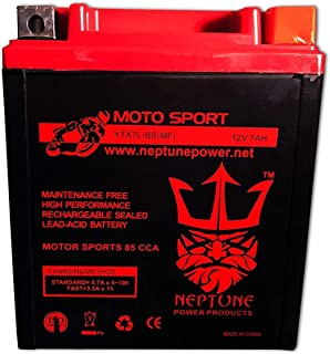YTX7L-BS High Performance Battery for Honda CBR250R 11-13 by Neptune