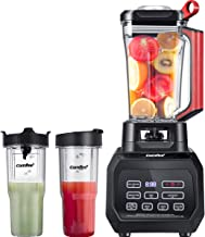 COMFEE' BL2532 Professional Blender Smoothie Blender, 70oz Clear Tritan Pitcher Countertop Blender and (2) 28oz Boottles Personal Blender with 1500-Watt Base for Shakes and Smoothies