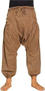 Panasiam Pantalones Pescador dise/ño de la Raya Negro XL