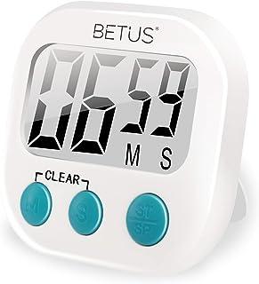 Betus Temporizador de Cocina Digital - Grandes dígitos, operación Simple - Almohadilla magnética o Soporte de Mesa - Cuenta cronómetro hacia Arriba y hacia Abajo para cocinar
