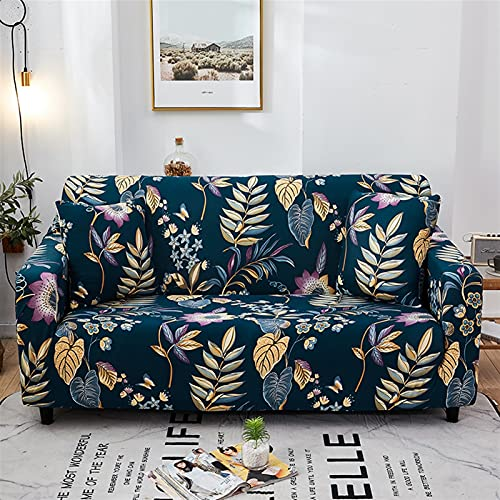 ZFDM Universal-Größe 1/2/3/4 Sitzer-Sofa-Deckungen Stretch Elastizität Sitzcouch Couch Devisen Liebesat Funität Kissenbezüge Home Decoration (Color : K979, Specification : 1 Seater AA 90 140cm)