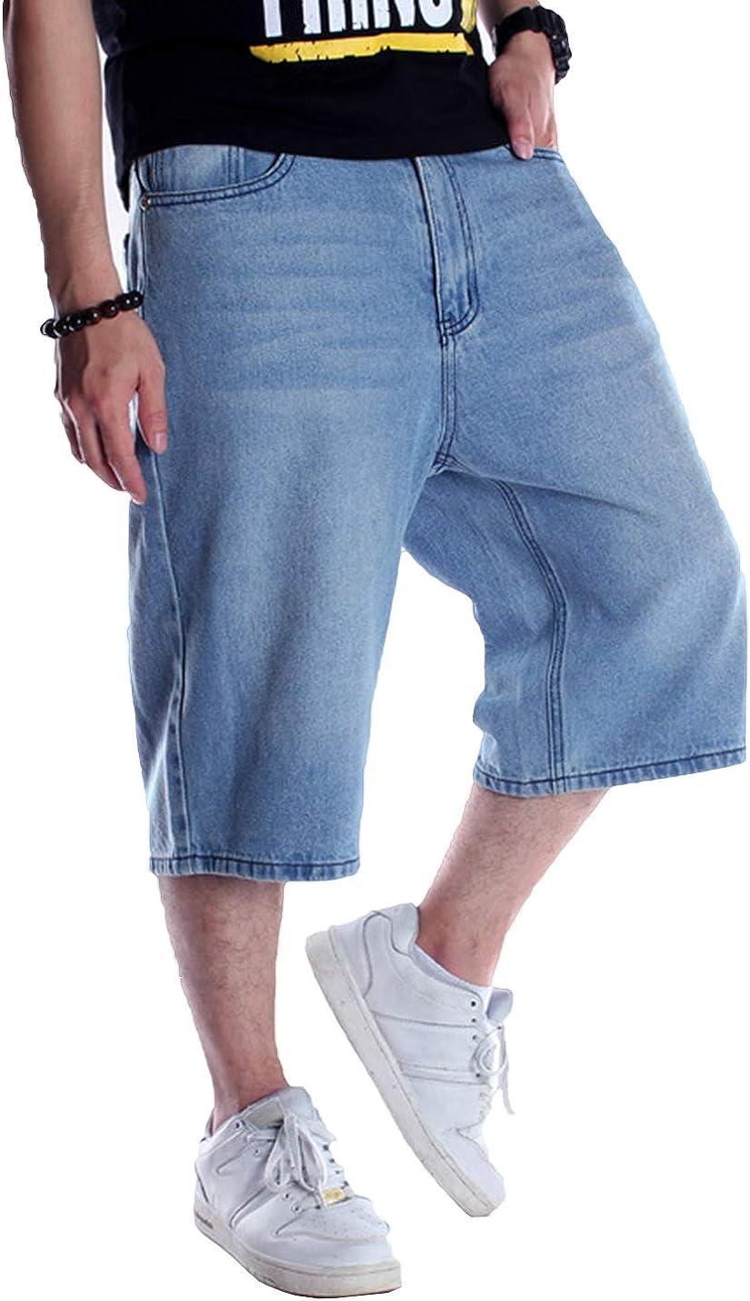 Denver Mall Dallas Mall IKIIO Men's Casual Carpenter Work Denim Jeans Shorts Hop Car Hip