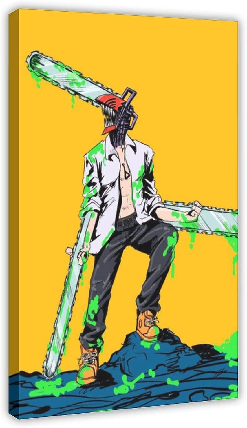 Anime Chainsaw Man 4 Canvas Poster Print Wall Price reduction National uniform free shipping Art Decor Picture
