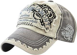 MINAKOLIFE Vintage Distressed Washed Cotton Adjustable Baseball Cap Dad Hat