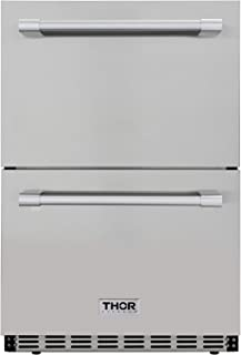 Thor Kitchen 4.7 cu. ft. Under Counter Double Drawer Refrigerator in Stainless Steel