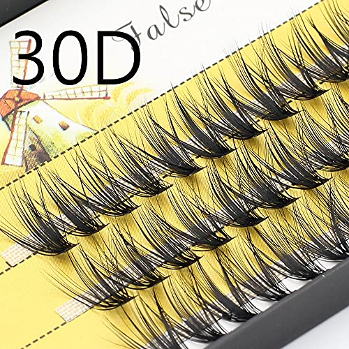 YQSBYI Gran Capacidad 60 Paquetes 20d / 30d Extensiones de pestañas Profesional Mink Individual Eyelashes Maquillaje Falso Falso Palezas Estilo Natural (Color : 30D, Curl : D)