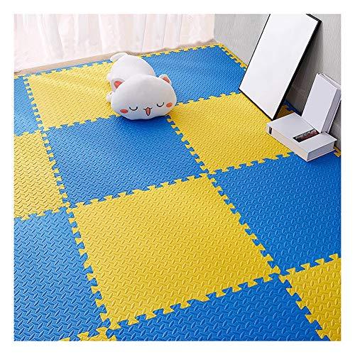 WUZMING-Tapis Puzzle En Mousse PE Plancher De Mousse Grand Tapis De Jeu for Enfants Imperméable Facile À Nettoyer Plusieurs Couleurs Combinaison Libre (Color : A, Size : 60x60x1.0cm-24pcs)
