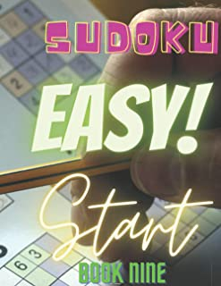 Sudoku Easy Start Book Nine: Lined Sudoku Puzzle Book, 33 Pages, 8 x 11, Soft Cover, Matte Finish (The Sudoku Puzzle Book ...