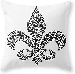 ChongXiFuShi Kappa Kappa Gamma - Fleur De Lis Throw Pillow Indoor Cover (18