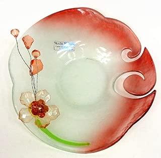 Moda Mostra Murano Glass Decorative Art Plate by Mario Bizzotti