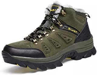 Asifn Men's Boots Winter High Top Snow Boots Leather Outdoor Hiking Mid Trekking Shoes