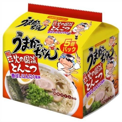 ハウス うまかっちゃん 熊本 火の国流とんこつ 香ばしにんにく風味 特製調味オイルつき 袋93g×5