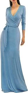 Best light blue maxi wrap dress Reviews