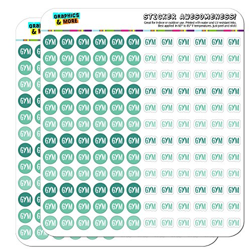 Gym Dots Planner Calendar Scrapbooking Crafting Stickers - Teal - Opaque