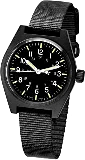 MARATHON WW194004-STE Swiss Made Military Field Army Watch with Tritium and Sapphire Crystal
