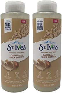 St. Ives Soothing Body Wash, Oatmeal & Shea Butter, 16 oz (Pack of 2)