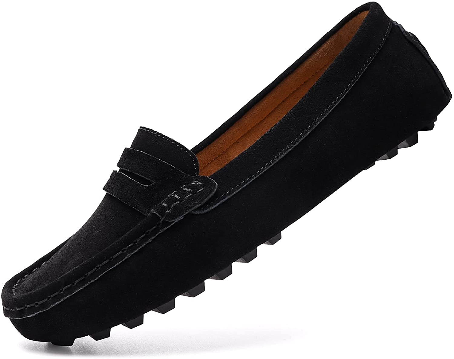 BEAUSEEN 35% OFF Women's Max 59% OFF Comfortable Suede Leather Penny Loafer Slip-on
