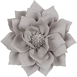 Kids Headband Lotus Hair Clip Satin Diamonds Headwear Pins Hair Clips Hair Flower Accessories as picture 13